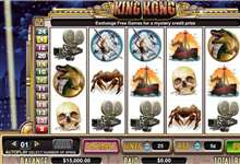 King Kong der Affe begeistert im Cryptologic Movie Slot